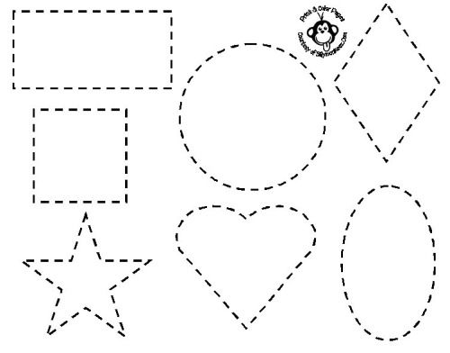 triangle coloring page - shapes coloring pages