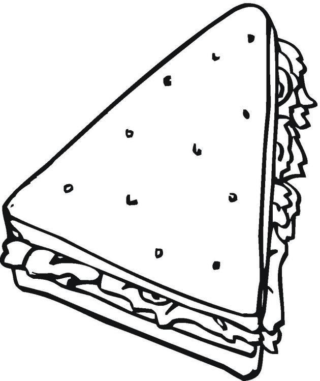 Triangle Coloring Page - Triangle Shaped Objects Clipart 32