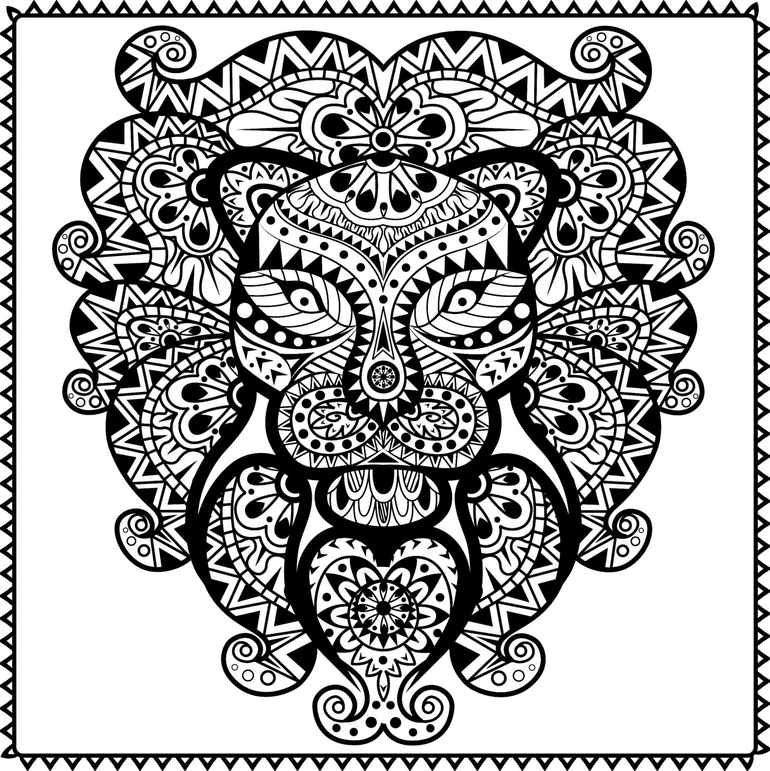 Tribal Coloring Pages - Tribal Aztec Coloring Pages Coloringsuite