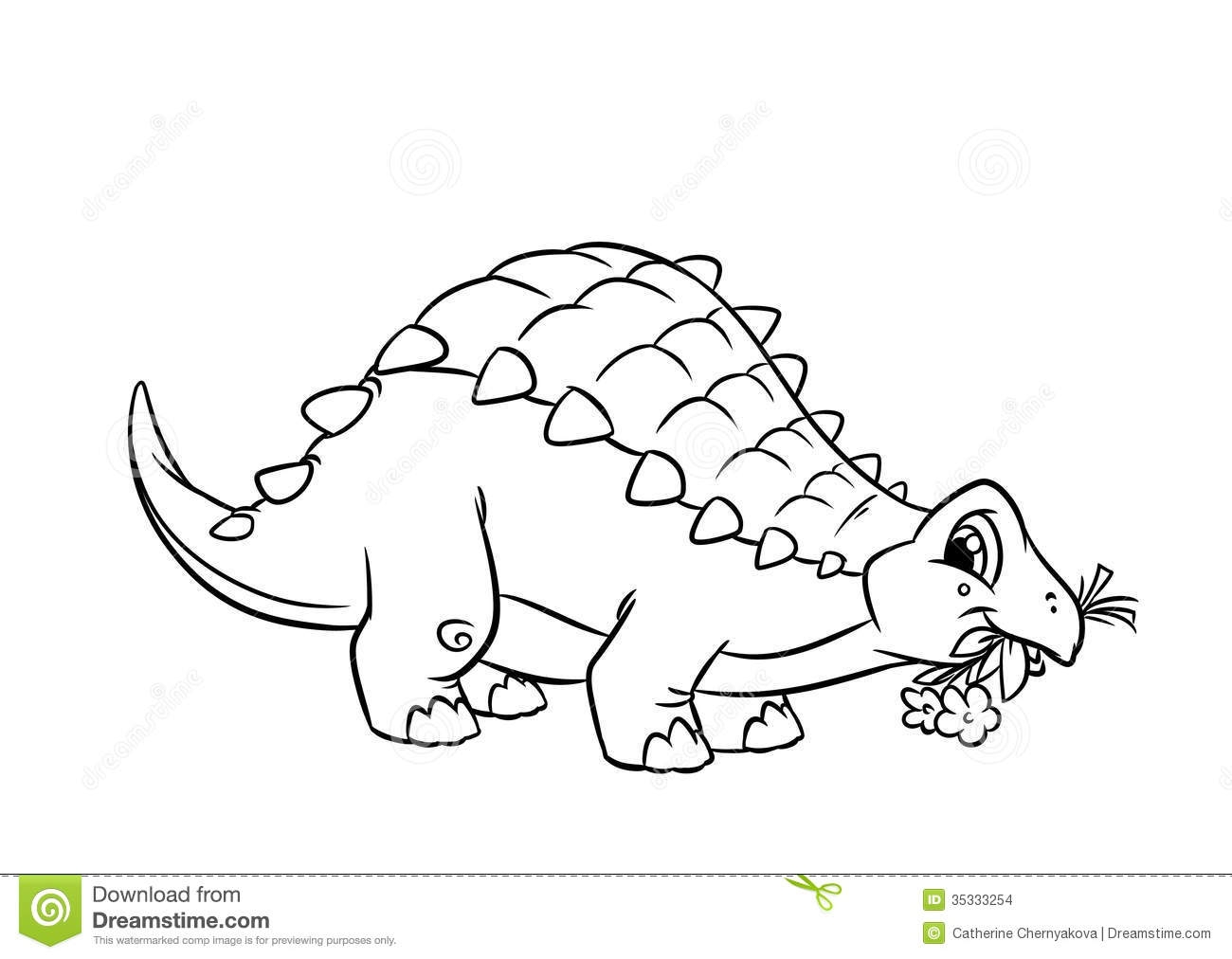 triceratops coloring page - stock images dinosaur ankylosaurus coloring pages isolated illustration cartoon image