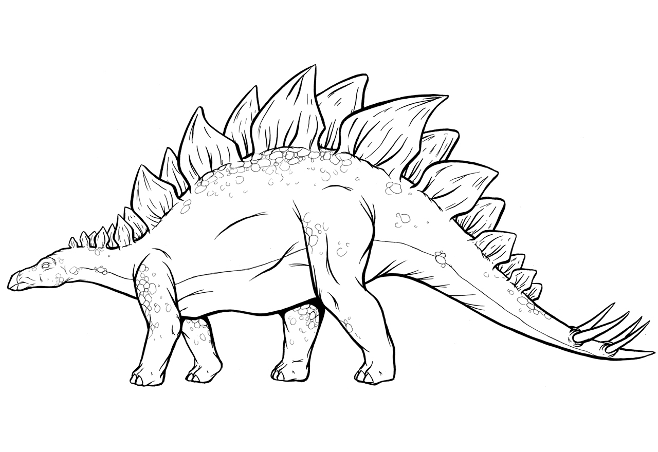 triceratops coloring page - stegosaurus coloring page