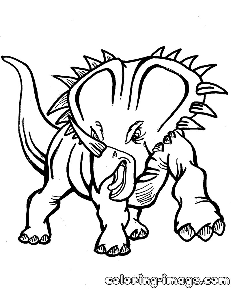 Triceratops Coloring Page - Triceratops Dinosaur