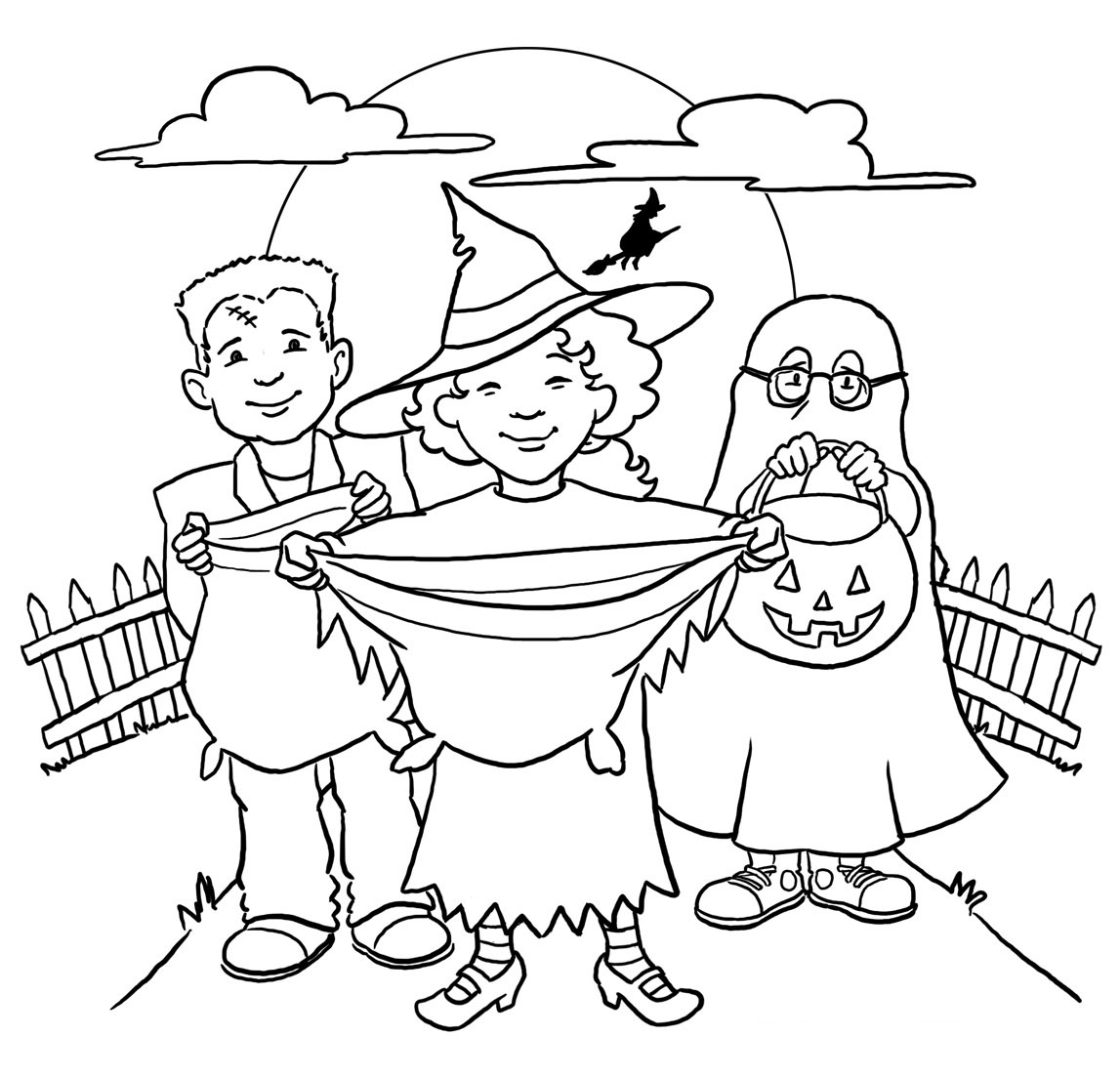 27 trick or treat coloring pages printable free coloring pages