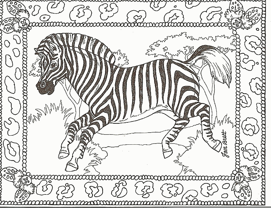 trolls coloring pages printable - zebra coloring pages