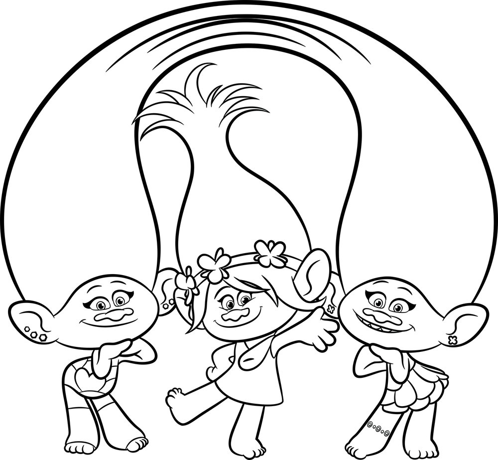 trolls coloring pages - trolls movie coloring pages
