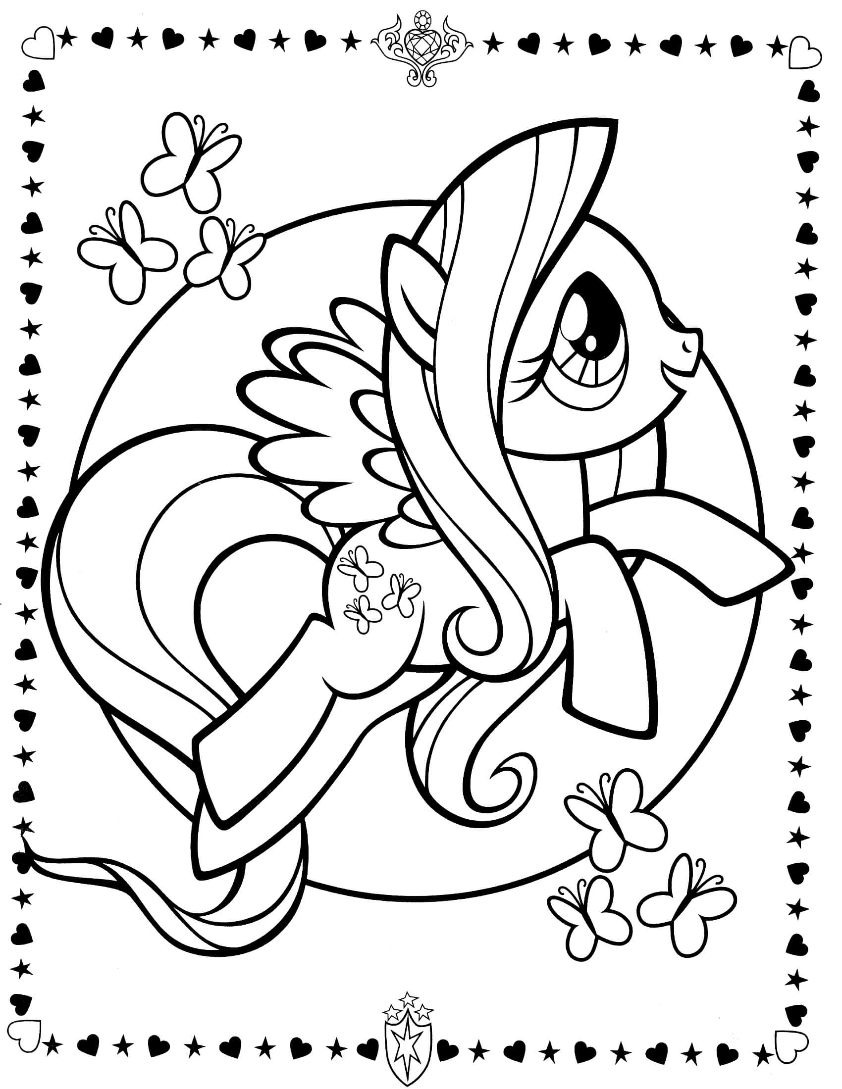 trolls printable coloring pages - my little pony coloring page 8