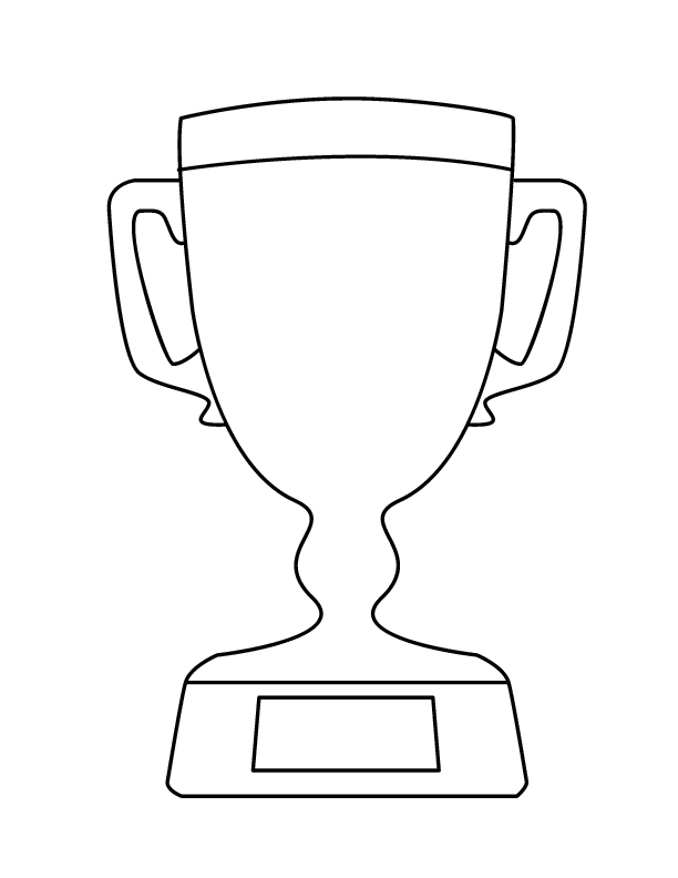 trophy coloring page - 1st place trophy coloring pages sketch templates