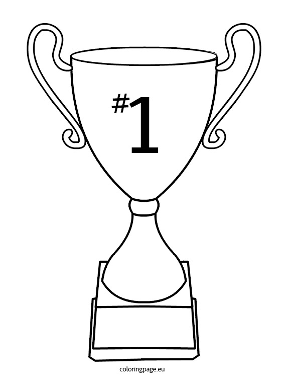 Trophy Coloring Page - Cup Trophy