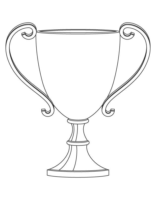 trophy coloring page - q=pictures of trophies