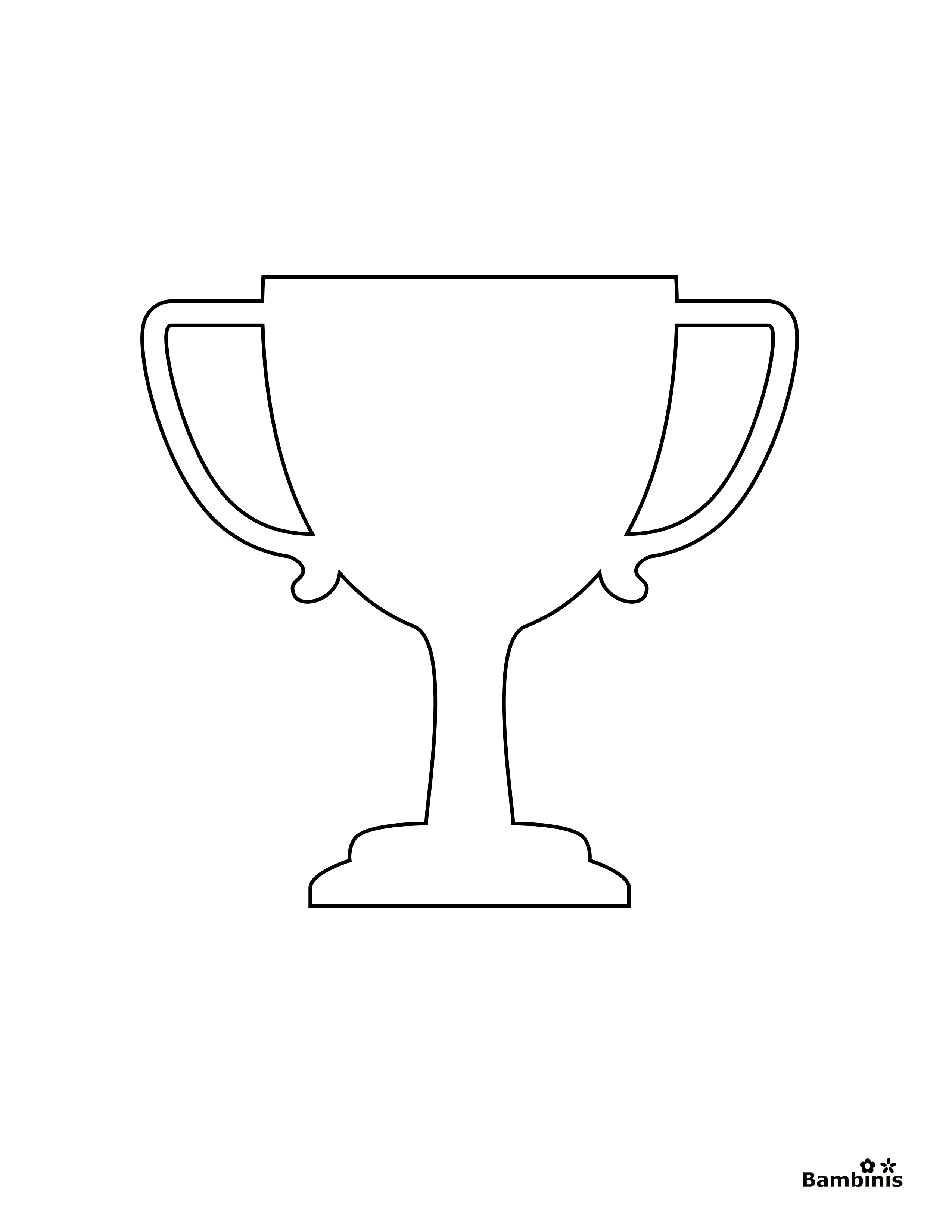 trophy coloring page - trophy