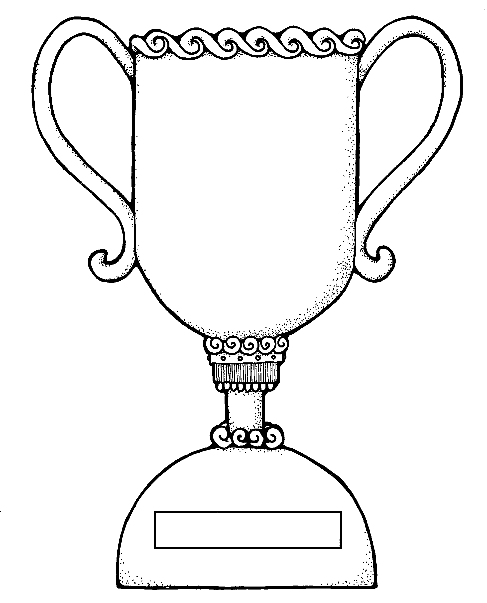 trophy coloring page - trophy coloring sheet sketch templates