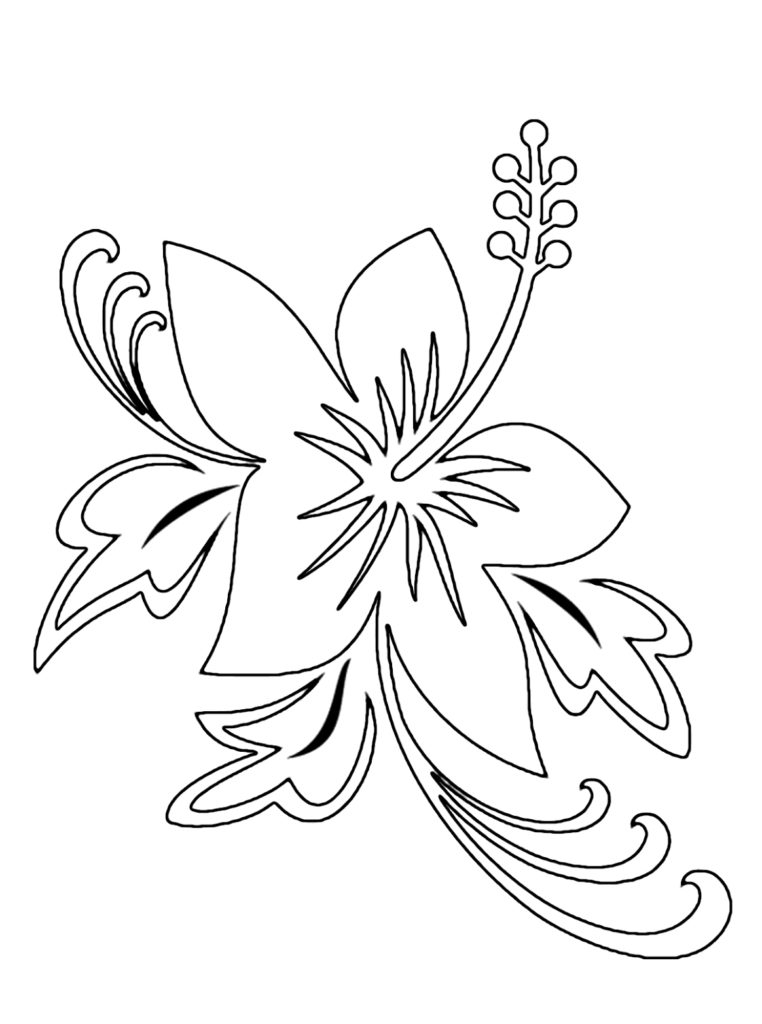 tropical coloring pages - hawaiian flower coloring pages printable tropical flower coloring