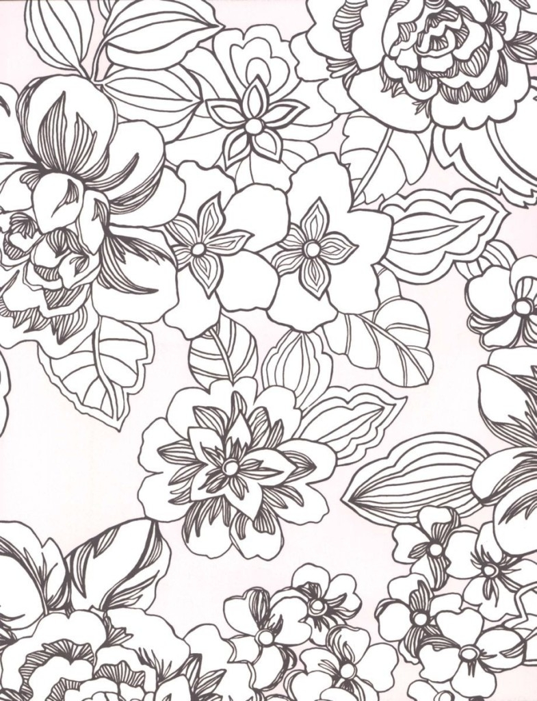 tropical coloring pages - tropical flowers coloring pages 5549