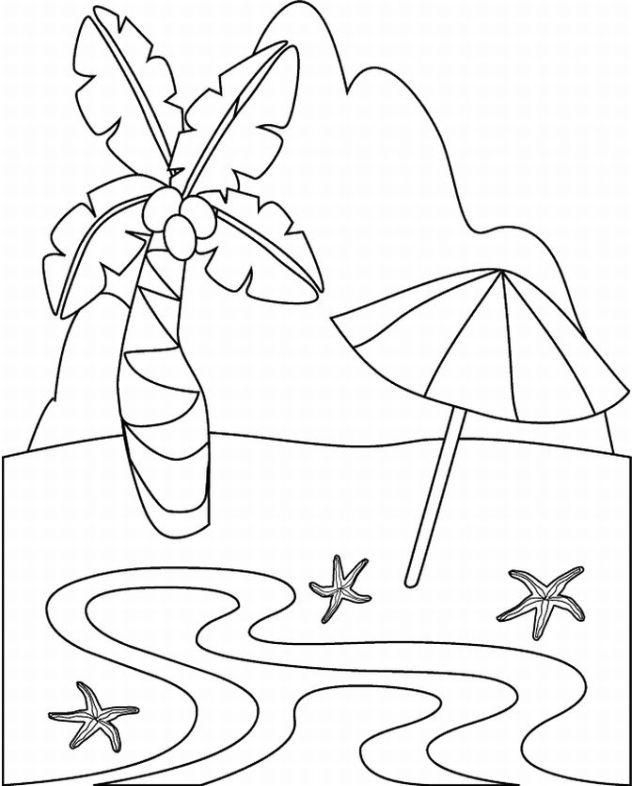 tropical coloring pages - tropical island coloring pages