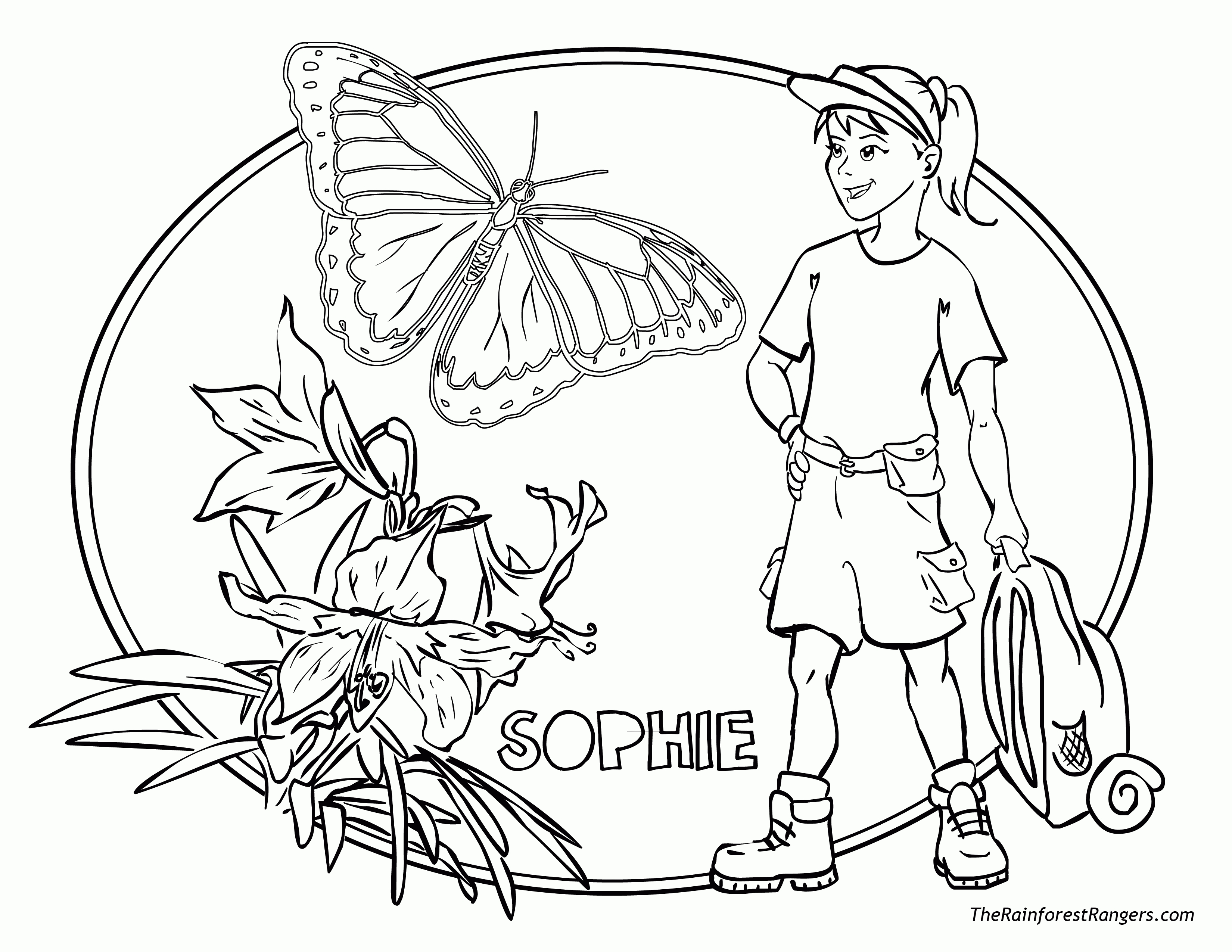 tropical coloring pages - tropical rainforests coloring pages