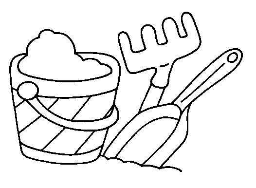 truck coloring pages - beach coloring page