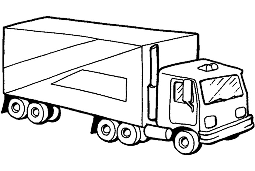 truck coloring pages - lkw 2