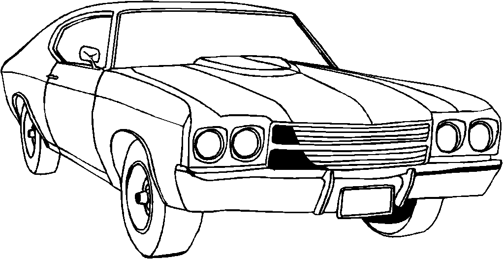 truck coloring pages - muscle car coloring pages