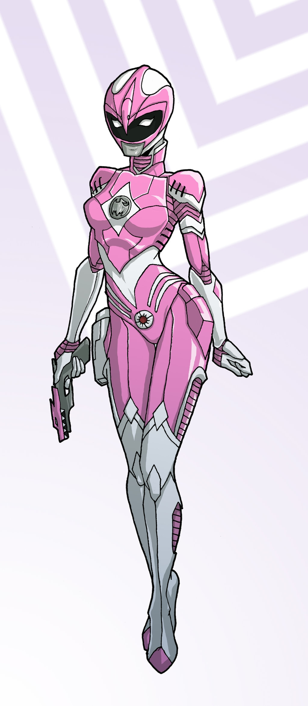 trump coloring pages - Pink Ranger