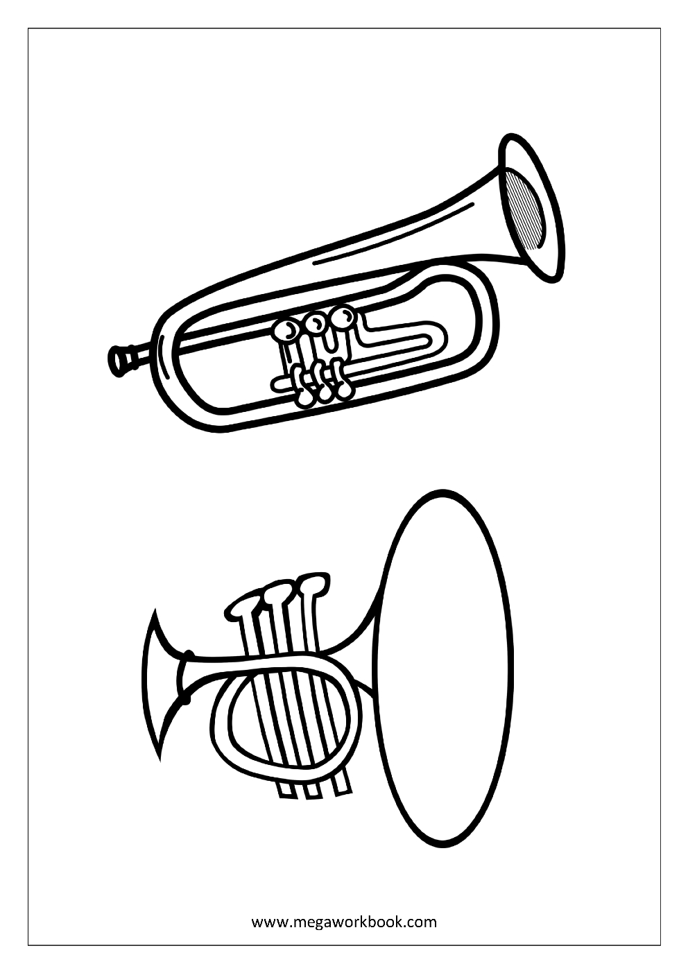 24 Trumpet Coloring Page Pictures Free Coloring Pages Part 2