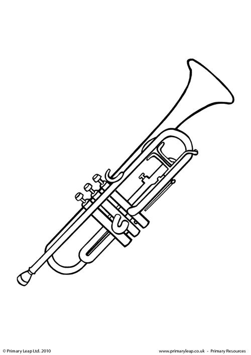 trumpet coloring page - trumpet