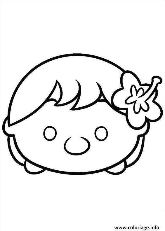 Tsum Tsum Coloring Pages - Coloriage Tsum Tsum Ariel Baby Dessin