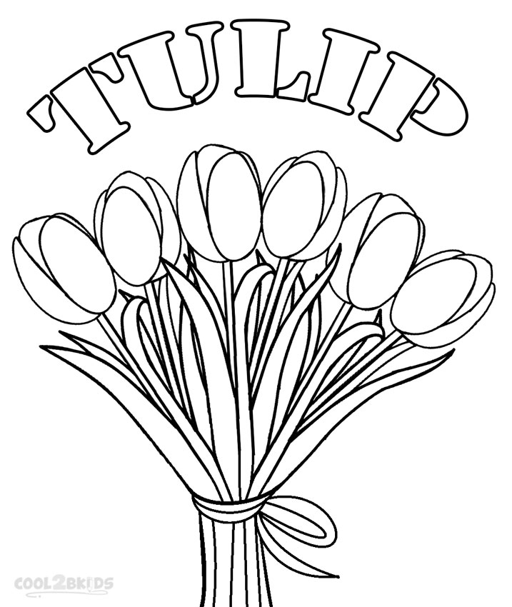 tulip coloring pages - tulip coloring pages
