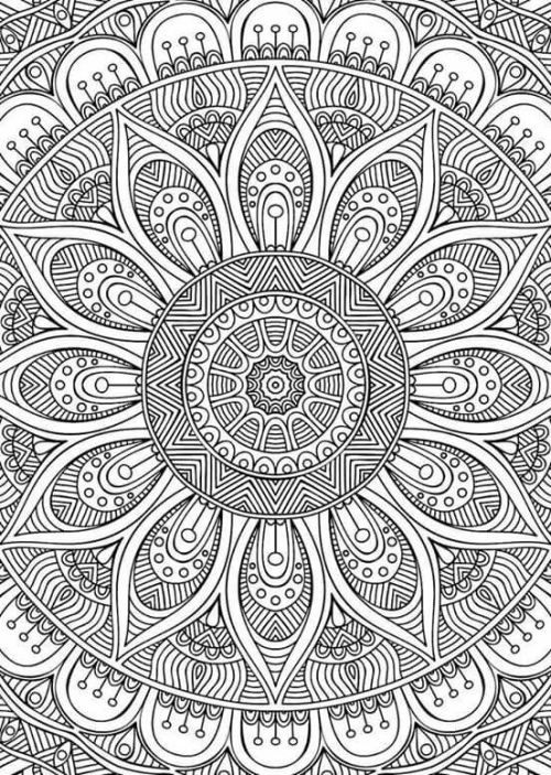 tumblr coloring pages - adult coloring mandala
