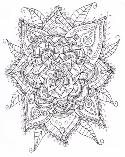 tumblr coloring pages - mandala coloring pages