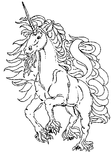 Tumblr Girl Coloring Pages - Einhorn
