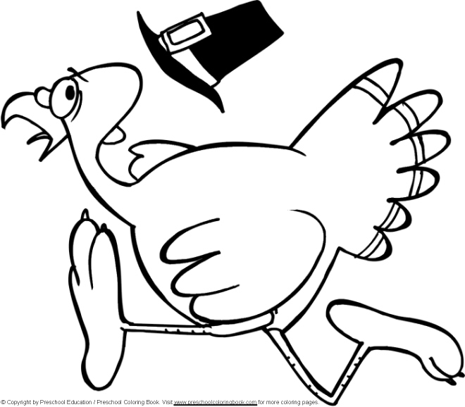 Turkey Coloring Pages for Preschoolers - Thanksgiving Coloring Page