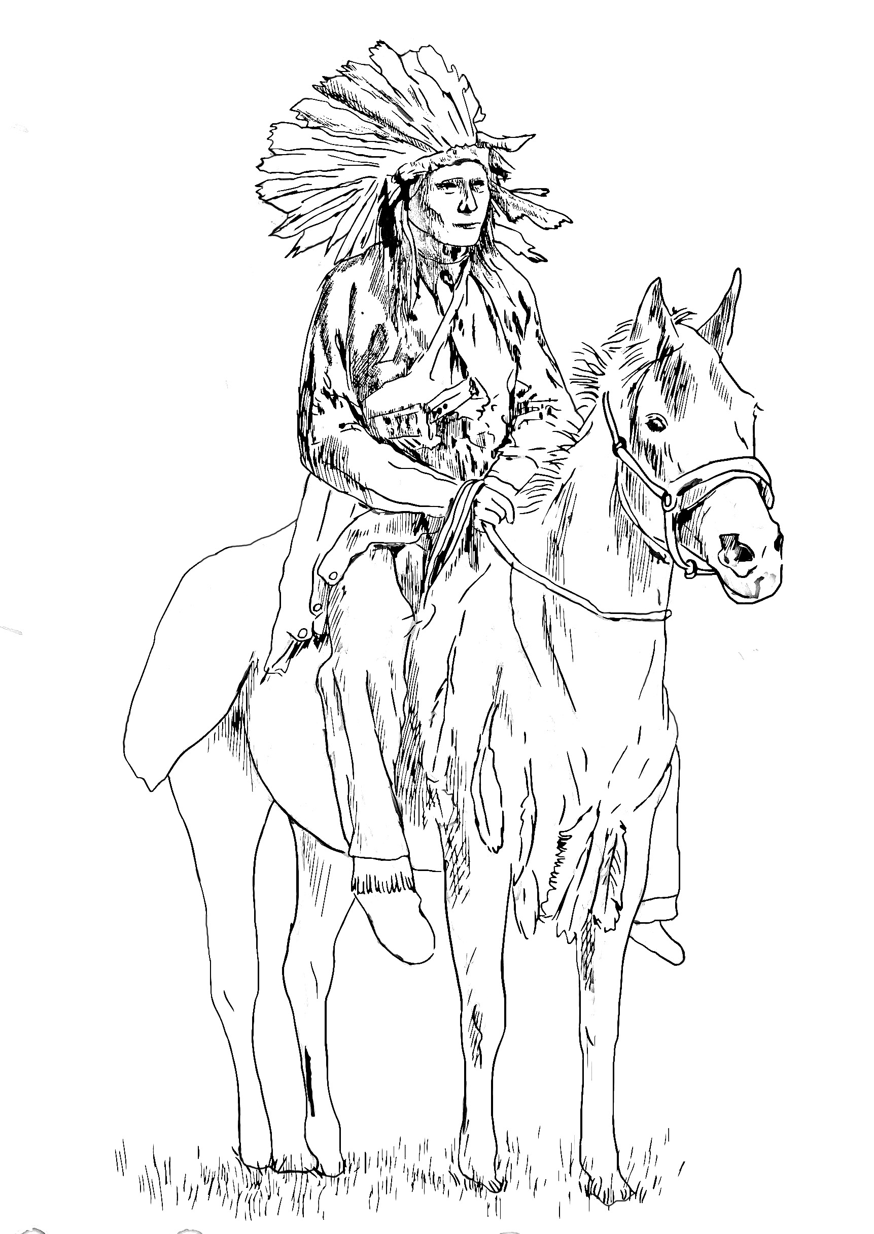 turkey coloring pages free - image=in ns d amerique coloriage adulte in n sur son cheval 1