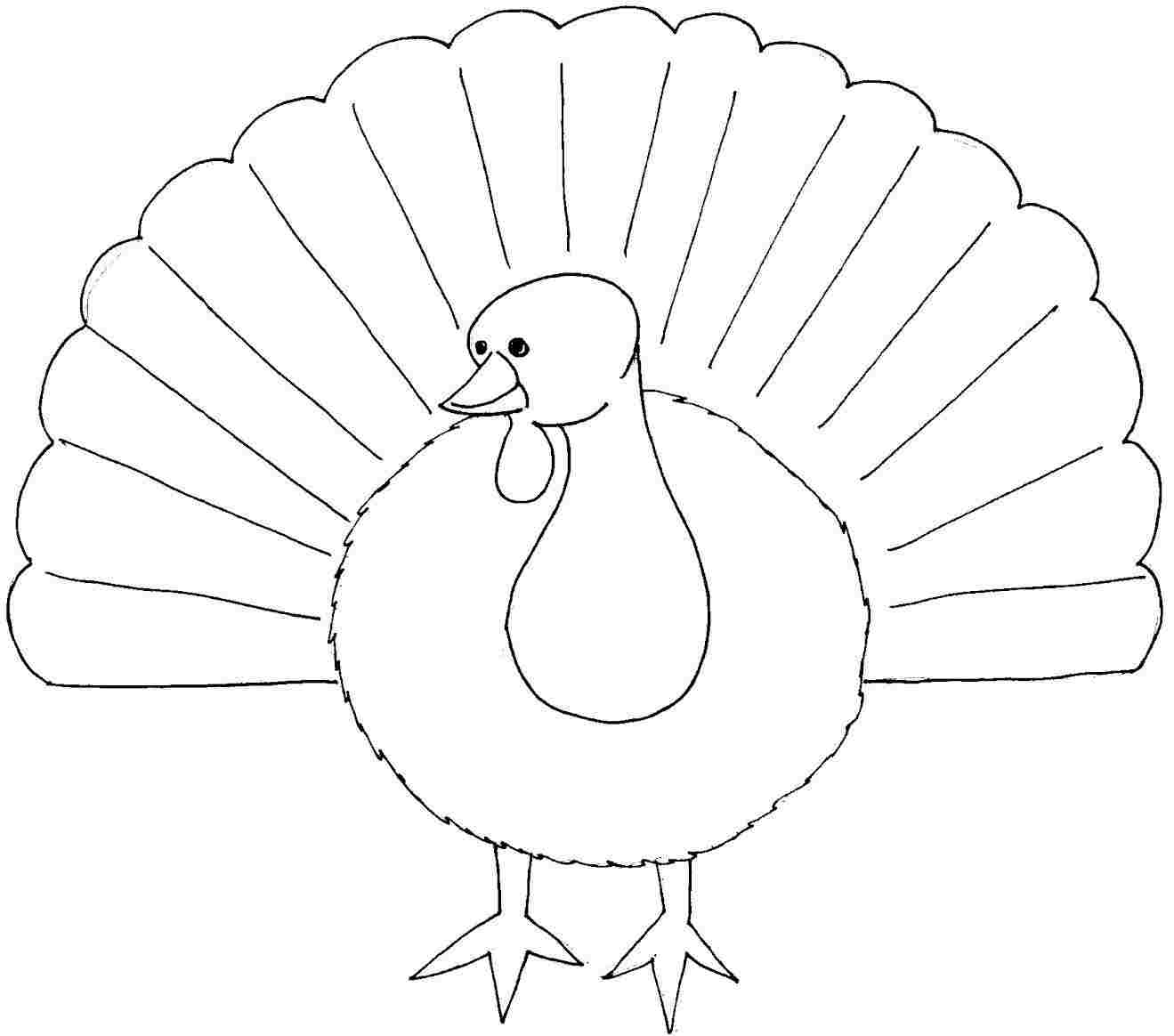 turkey coloring pages printable - post thanksgiving turkey face printable