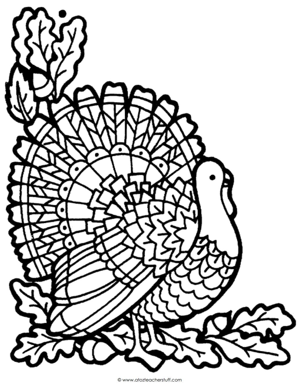 turkey coloring pages printable - turkey coloring page