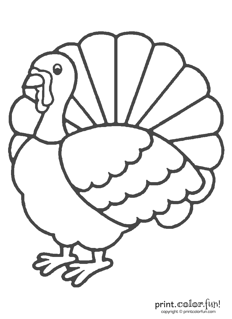 turkey coloring pages - r=turky cut out