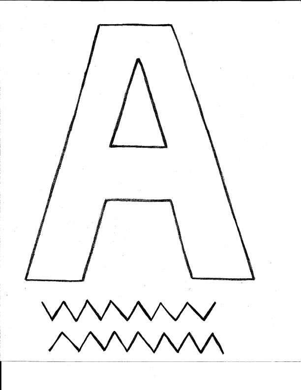 turn photo into coloring page - letter a alligator craft