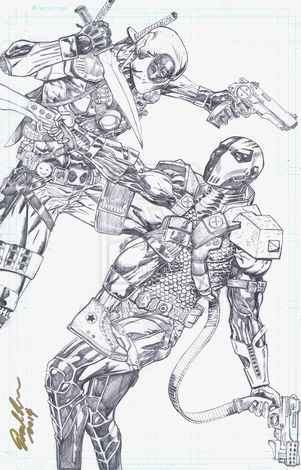 turn picture into coloring page - stroke vs deadpool coloring pages