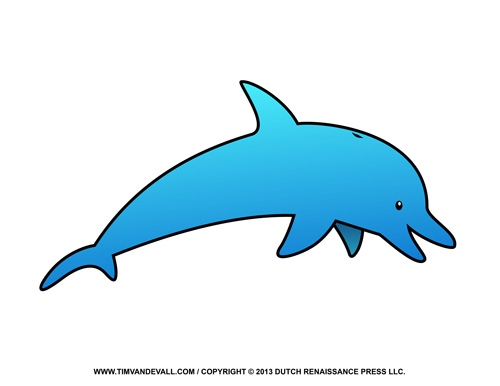 turn picture into coloring page - dolphin clipart