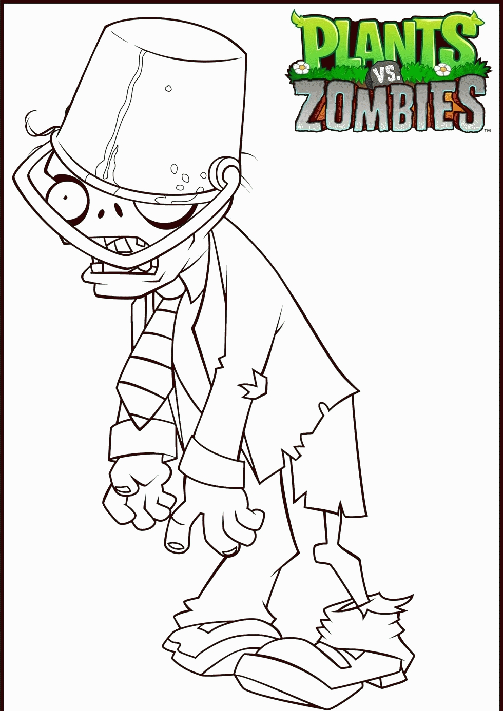 turn picture into coloring page - plants vs zombies garden warfare coloring pages