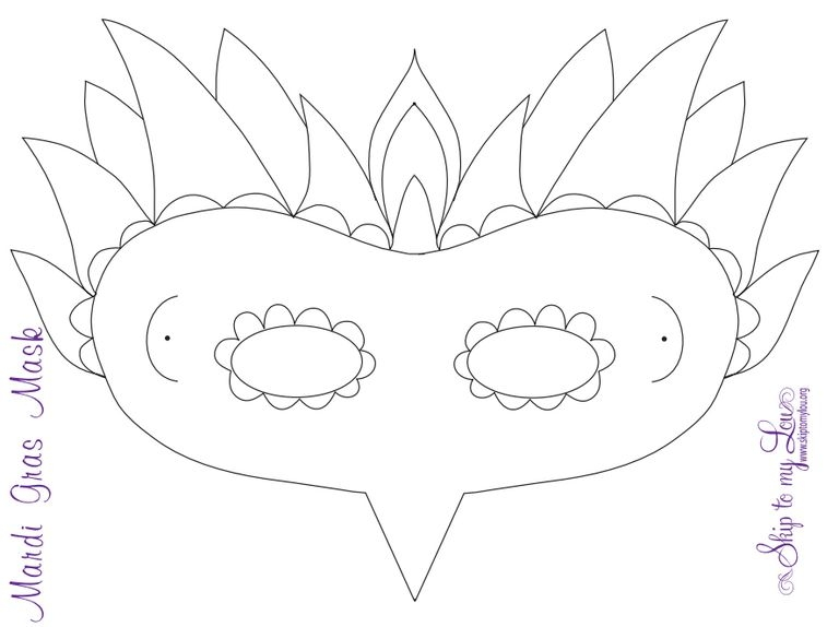 turn pictures into coloring pages for free - free mardi gras mask templates