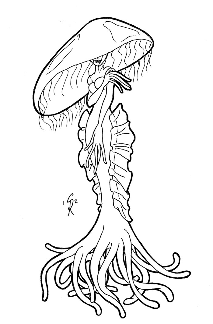 turn pictures into coloring pages for free - Jellyfish Lady