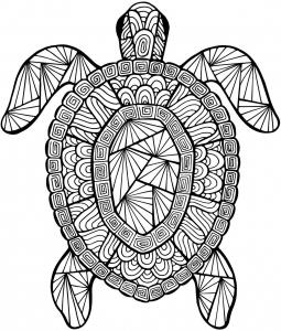 turtle coloring pages for adults - abstract turtle coloring pages for adults sketch templates