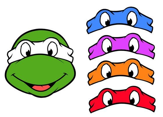 turtle coloring pages - ninja turtle shell clip art