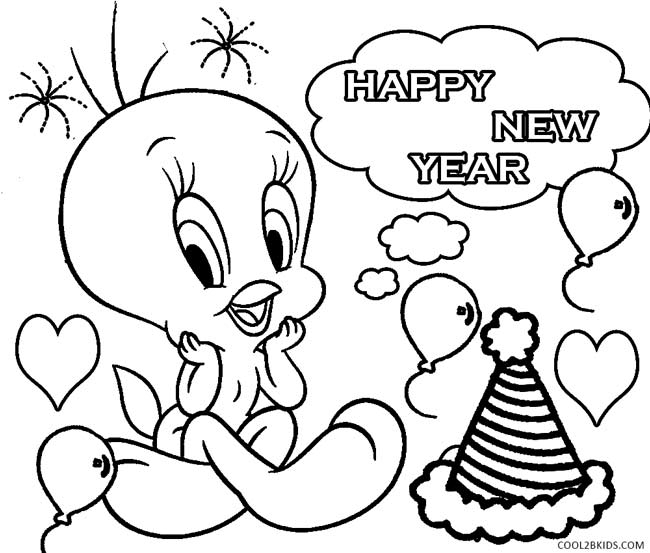 tweety bird coloring pages - inspirational new year coloring pages 59 on seasonal colouring pages with new year coloring pages