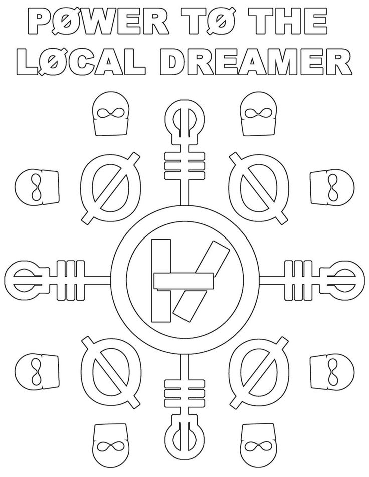 Twenty One Pilots Coloring Pages - Twenty One Pilots Coloring Page