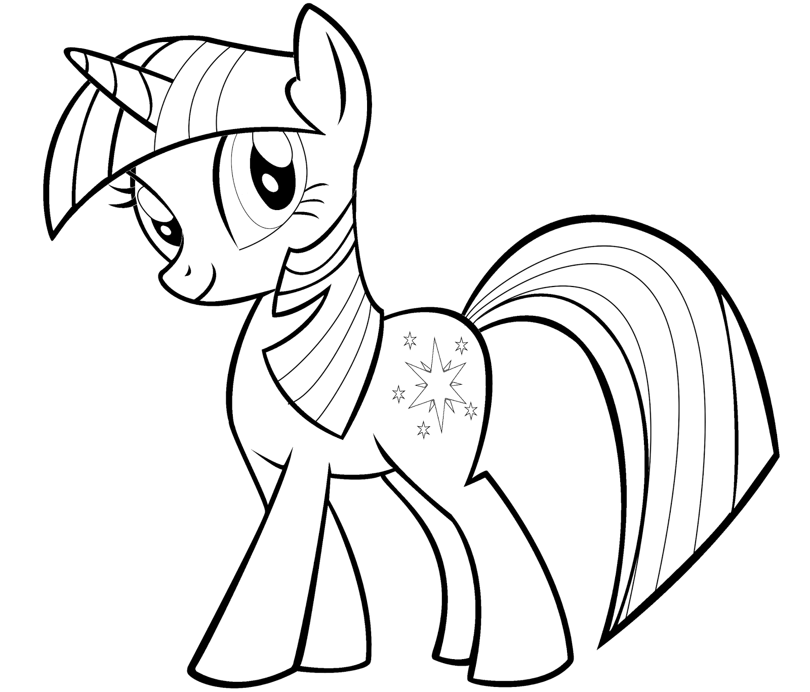 twilight coloring pages - twilight sparkle