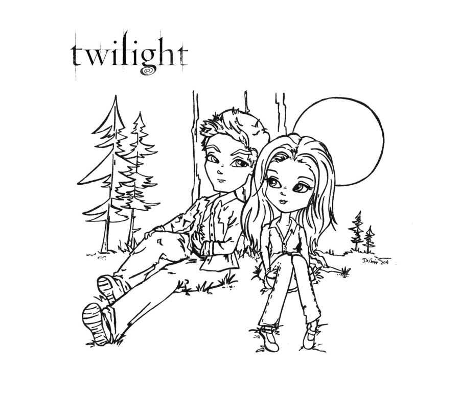 twilight coloring pages - twilight coloring sheets