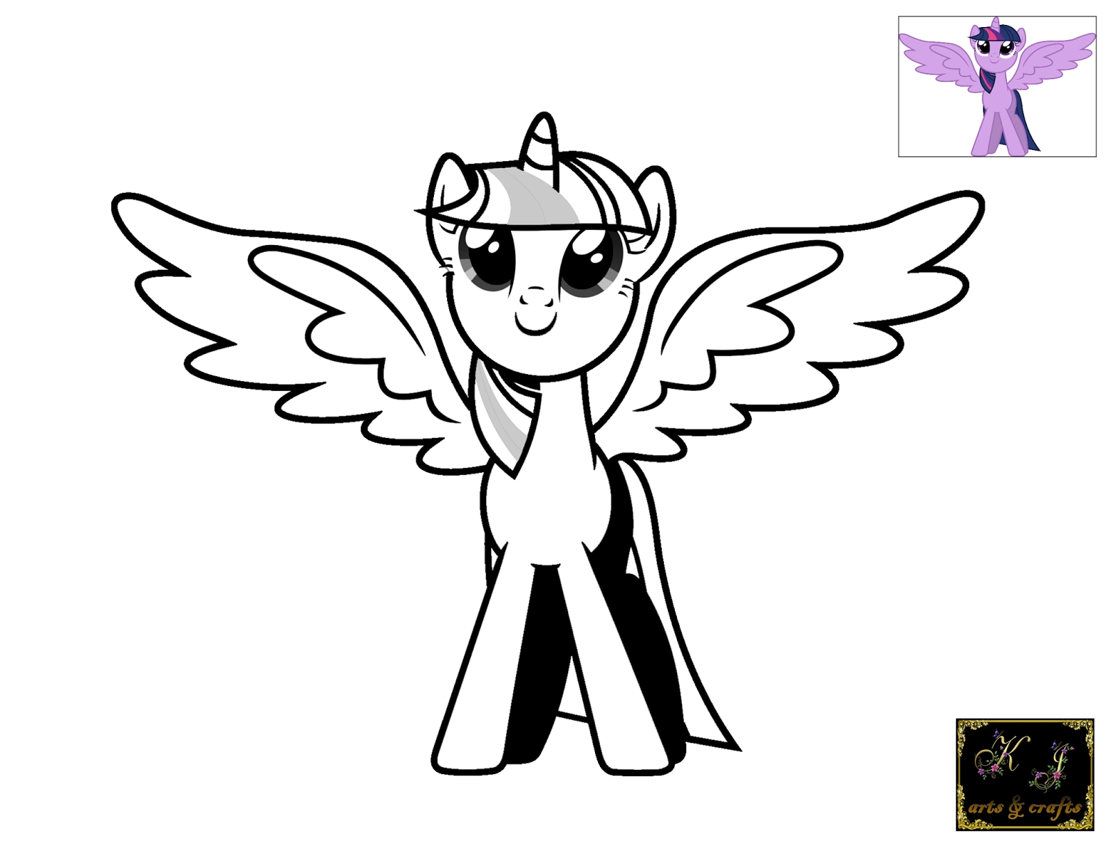 twilight sparkle coloring page - twilight sparkle coloring pages