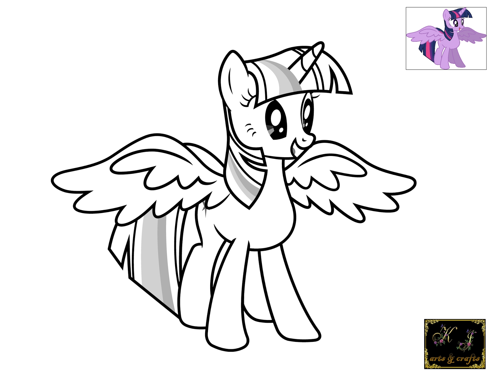 Twilight Sparkle Coloring Page - Kj Coloring Pages Twilight Sparkle Coloring Pages