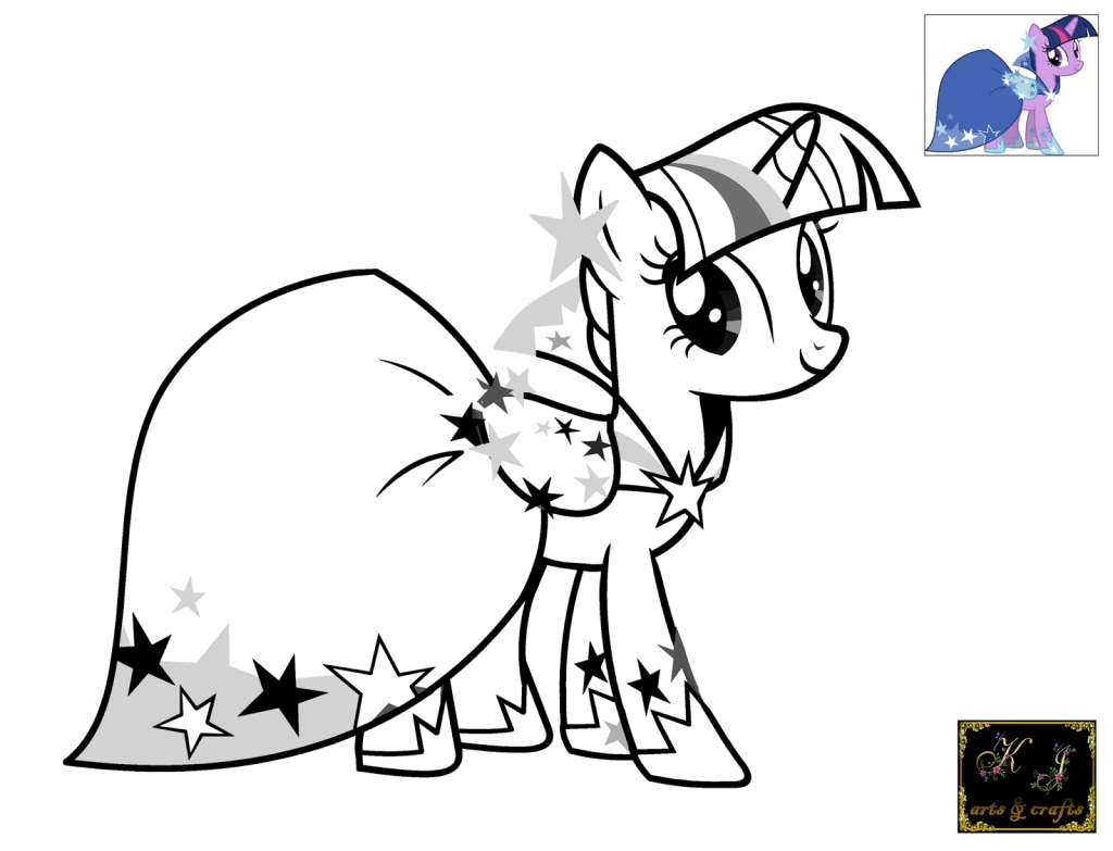 twilight sparkle coloring page - my little pony twilight sparkle coloring pages